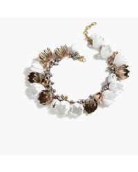 J.Crew | White Garden Party Necklace | Lyst