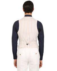 Giorgio Armani | White Techno Honeycomb Gaufrè Vest for Men | Lyst