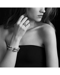 David Yurman - Metallic Bracelet With Black Onyx And Diamonds - Lyst