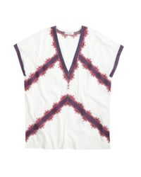 J.Crew - Multicolor Embroidered Tunic T-shirt - Lyst