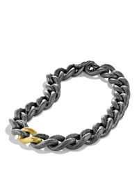 David Yurman - Metallic Black & Gold Curb Link Necklace - Lyst