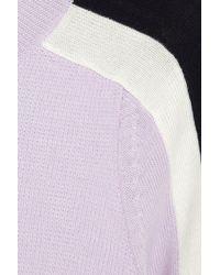 J.Crew - Purple Color-block Merino Wool Sweater - Lyst