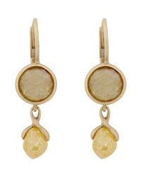 Anaconda | Yellow Double-drop Earrings | Lyst