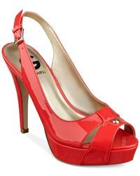G by Guess - Red Women'S Cathy Slingback Platform Pumps - Lyst