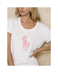 Ralph Lauren | White Pink Pony Tee | Lyst