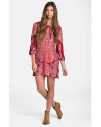 Billabong | Red Gypsy Daze Printed Dress | Lyst