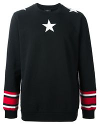 Givenchy - Black Star Print Sweater for Men - Lyst
