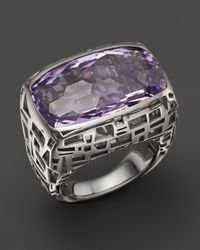 Roberto Coin | Purple Sterling Silver Skyline Ring With Amethyst | Lyst