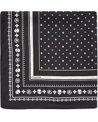 COACH | Black Skulls Pocket Square - For Women | Lyst