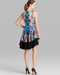 Black Halo - Multicolor Dress - Reese Stretch Sateen A-Line - Lyst