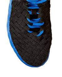 Steven by Steve Madden | Black Tomii Woven Lace-up Sneakers | Lyst