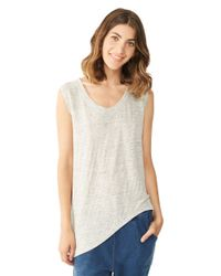 Alternative Apparel | Gray Linen Asymmetrical Cap-Sleeve | Lyst