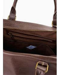 Mango - Brown Side-Tab Weekend Bag for Men - Lyst
