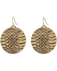 Sam Edelman | Metallic Snakeskin Snake Disc Drop Earrings | Lyst