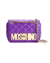 Moschino - Pink Quilted Sheepskin Cross-Body Bag  - Lyst