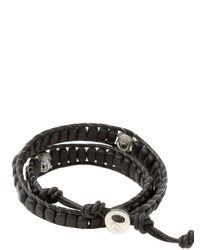 Colana | Black Double Wrap Onyx Bracelet | Lyst