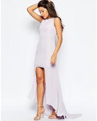 ASOS - White Step Hem Maxi Dress - Lyst