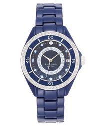 kate spade new york - Ladies Seaport Grand Blue Watch - Lyst