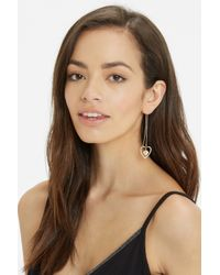Oasis - Natural Heart Pull Through Earring - Lyst