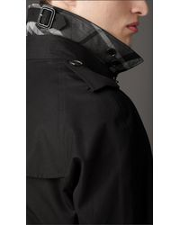 Burberry - Black Heritage Cotton Trench Coat for Men - Lyst