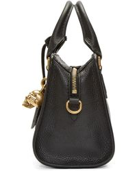 Alexander McQueen - Black Leather Mini Padlock Bag - Lyst
