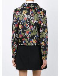 Vivetta - Black Printed Cropped Jacket - Lyst