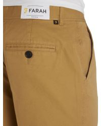 Farah | Metallic Berkley Regular Fit Cotton Chino Shorts for Men | Lyst