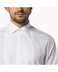 Tommy Hilfiger - White Cotton Poplin Fitted Shirt for Men - Lyst