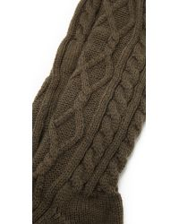 Free People | Green Cozy Cable Socks | Lyst