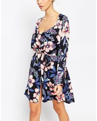 ASOS - Multicolor Pretty Pansy Robe - Lyst