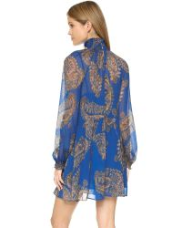 Free People - Blue Forget Me Not Moonstruck Mini Dress - Black Combo - Lyst