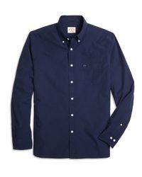 Brooks Brothers | Blue End-on-end Solid Sport Shirt for Men | Lyst