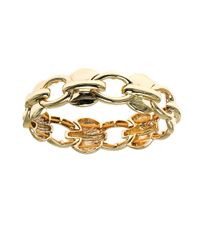 Anne Klein | Metallic Chain Link Stretch Bracelet | Lyst