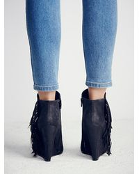 Free People | Black Midnight Moves Fringe Boot | Lyst