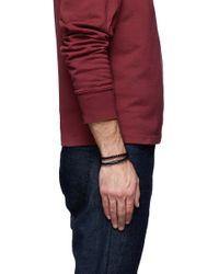 Tateossian - Black 'Chelsea' Double Wrap Braided Bracelet for Men - Lyst