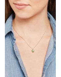 Brooke Gregson - Metallic Dewdrop 14-karat Rose Gold Emerald Necklace - Lyst