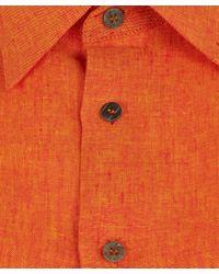 Eskandar - Orange Sleeveless Linen Shirt - Lyst