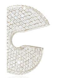 Vhernier - Metallic Verso Medio Pave Diamonds Earrings - Lyst