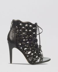 Sam Edelman   Black Open Toe Caged Studded Ghillie Sandals - Allison High Heel   Lyst