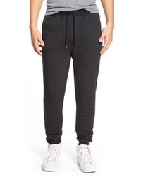Threads For Thought | Black Quilted Jogger Pants for Men | Lyst
