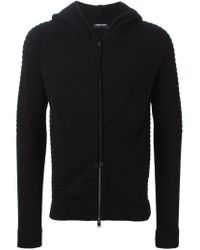 Exemplaire - Black Zipped Hoodie for Men - Lyst
