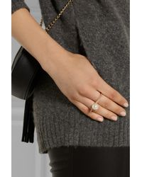 Ryan Storer | Pink Rose Gold-plated Swarovski Pearl Two-finger Ring | Lyst