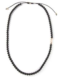 Shamballa Jewels - Black Diamond Detail Beaded Necklace for Men - Lyst