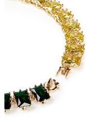 Eddie Borgo | Multicolor Two Tone Rectangle Estate Cubic Zirconia Necklace | Lyst