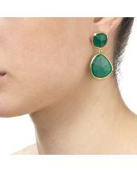 Monica Vinader - Green Siren Cocktail Earrings - Lyst