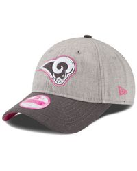 KTZ - Pink Women's Los Angeles Rams Breast Cancer Awareness 9twenty Cap - Lyst