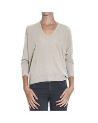 Pinko | Natural Sweater | Lyst