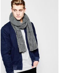 Jack & Jones - Gray Dot Knit Scarf for Men - Lyst