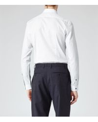 Reiss | White Astaire Slim Dotted Shirt for Men | Lyst