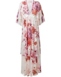 Giamba - Pink Floral Silk and Cotton-Blend Dress - Lyst